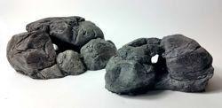 Bundle of 2 grey aquarium stones