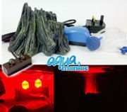 Small Root Volcano with Red LED lights and air pump