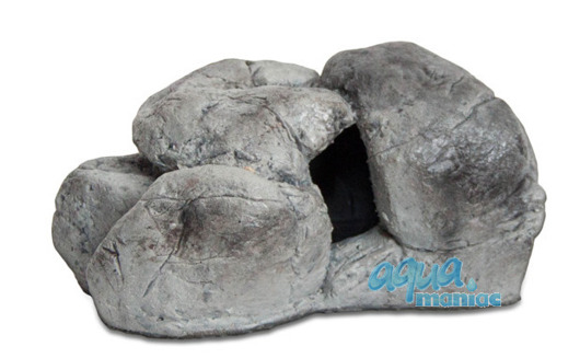 Mini aquarium stone in grey colour