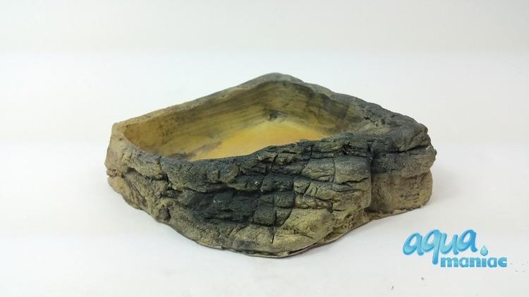 Terrarium Corner Bowl Stone with steps - medium size