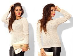 Beige Jumper Cardigan - One size