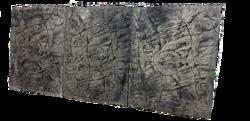 3D Foam Rock Grey Background Modules size 180x55cm
