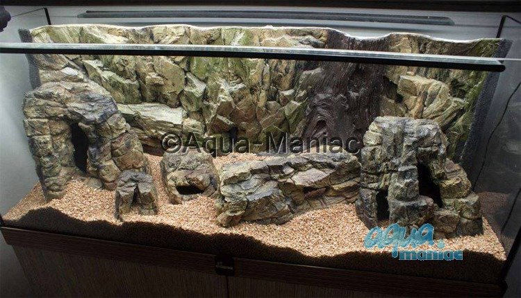 Aquarium Background 3d Root And Rock Style Back Drop For Fish Tanks 60x30