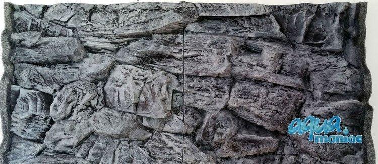 3D Background Grey Rock 97x45cm to fit Aqua Oak 110 Aquarium