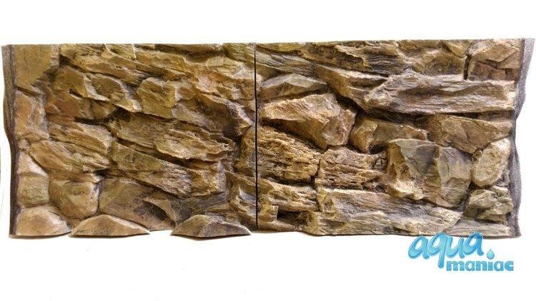 3D Background Rock 97x45cm to fit Aqua Oak 110 Aquarium