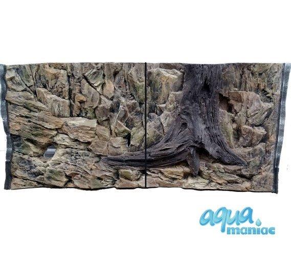 3D Background Rock Root With Vent 113x54cm to fit Aqua Oak 230 Aquarium