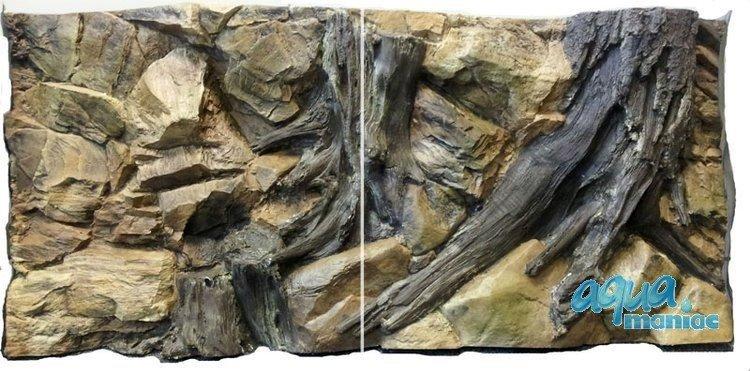 3D Background Root 106x56cm to fit Aqua Oak 120 Aquarium