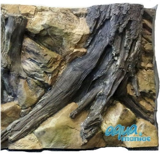 3D Root Background 57x56cm  to fit 2 foot by 2 foot tanks