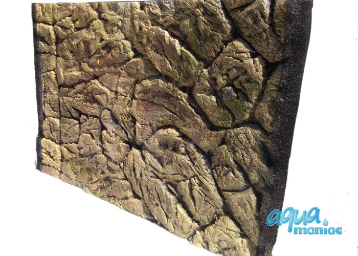 3D Thin Rock Background 209x56cm in 4 section to fit 7 foot by 2 foot tanks