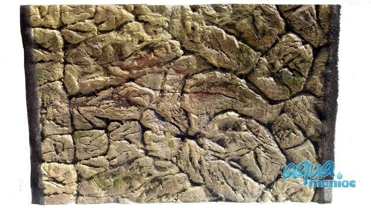 3D Thin Rock Background 88x56cm in 2 section to fit 3 foot by 2 foot tanks