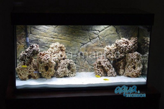 3D thin rock background 146x54cm