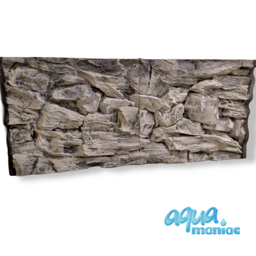 Fluval Vicenza 260 3D grey rock background 117x52cm in 2 sections