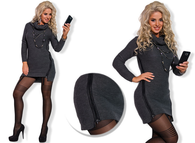 Graphite Long Jumper Tunic Dress - One size
