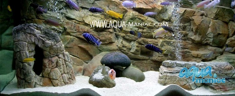 JUWEL RIO 300 3D rock background 117x54cm 3 sections