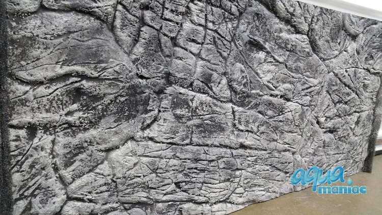 JUWEL Trigon 350 3D thin rock background in 2 sections