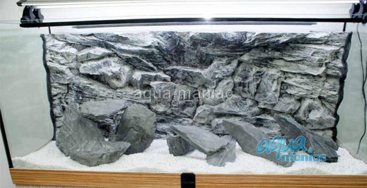 JUWEL Vision 180 3D grey rock background 90x45cm in 2 sections