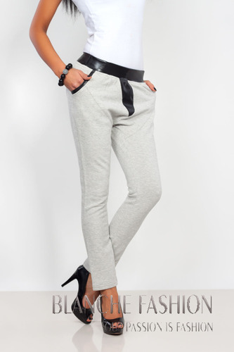 Loose Fit Trousers Mid Rise grey