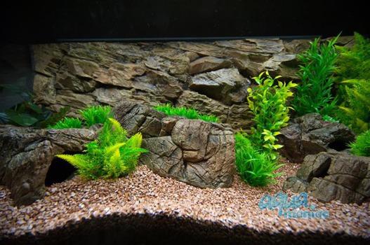 Mini beige aquarium rock