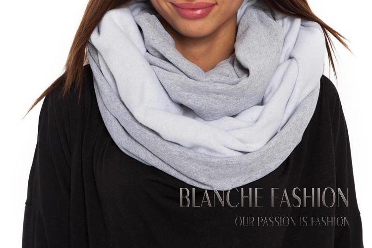 Woman Ladies Warm Scarve Grey
